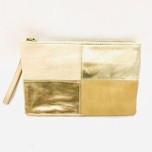EXPRESS Good Condition Small Gold Clutch Purse